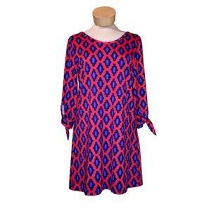 Mudpie Scoop Neck Geometric Anderson Shift Dress S